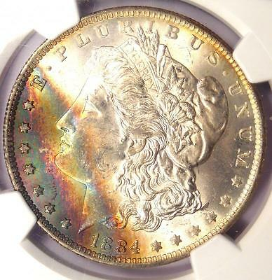 1884-O Toned Morgan Silver Dollar - Certified NGC MS63 - Nice Rainbow Toning!