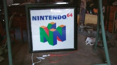 official Nintendo 64 and playstation advertising sign
