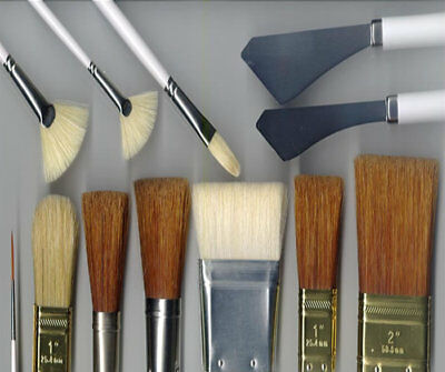 Bob Ross Oil Painting Brushes And Painting Knife Assorted Types Combined Postage