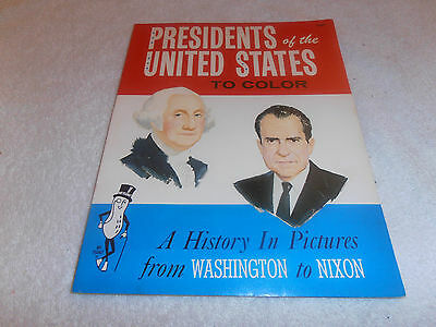 Mr Peanut--Presidents Coloring Book--1969--54 Pages + Cover--New,  Never Used