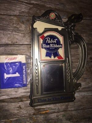 pabst blue ribbon calendar beer advertising sign vintage