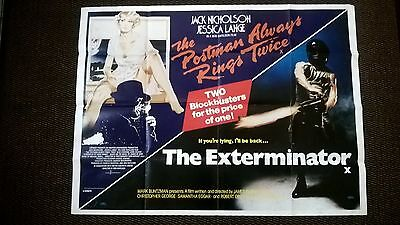 The Postman Always Rings Twice/exterminator  - 1980S - Uk Quad Poster-Original .