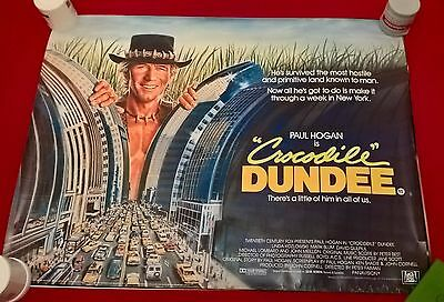 Crocodile Dundee   -   Original Uk Quad Poster .