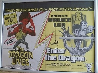 The Dragon Lives /  Enter The Dragon , Original  Uk Quad Poster ,30 X 40 Inches
