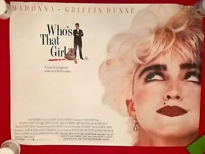Whos That Girl -1986 -   Original Uk Quad Poster .