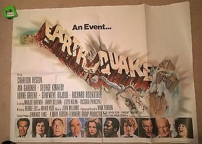 Earthquake  -1974   -   Original Uk Quad Poster .