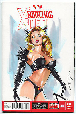 Magik-Original Art By J.Taylor/Sketch Comic Cover Variant Color Xmen Marvel Sexy