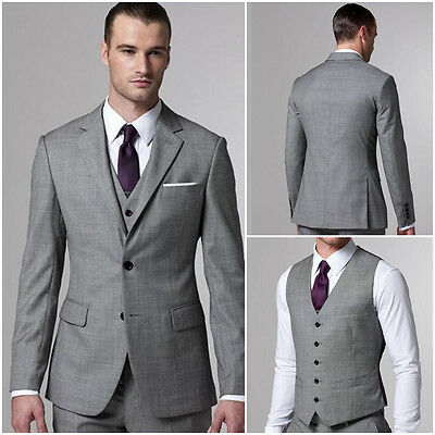 Best Men Suits Coat Groom Western Wedding Tuxedo Blazer Suits Jacket Pants Vest