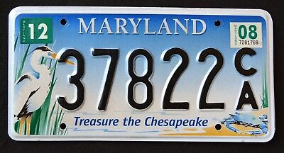 "Maryland "" CHESAPEAKE WILDLIFE HERON CRAB "" 2008 MD Specialty License Plate"