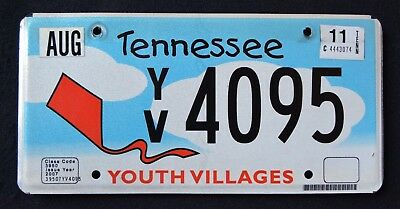 "TENNESSEE "" YOUTH VILLAGE - KITE "" RARE "" TN Specialty Graphic License Plate"