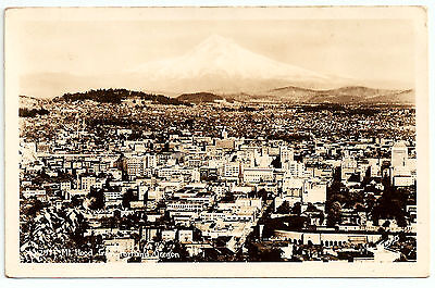 Usa Postcard Mt Hood From Portland Oregon Circa 1920 Real Photo