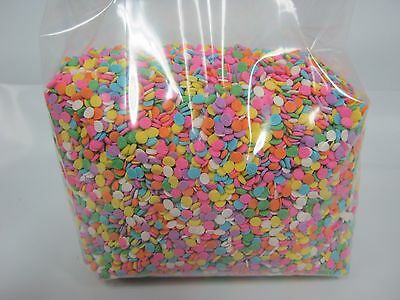 """Edible Confetti 1/8"""" Sequins Sprinkles Pastel Colors 12 oz candy cake cookies"""