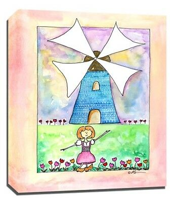 Travel Girl Holland, Print or Canvas Wall Art Decor, Kids Bedroom Baby, Adoption