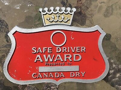 1950s CANADA DRY Soda Pop Metal Sign License Plate Topper