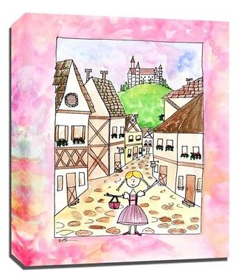 Travel Girl Germany, Print or Canvas Wall Art Decor, Kids Bedroom Baby, Adoption