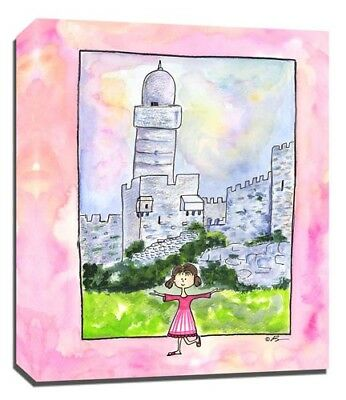 Travel Girl Israel, Print or Canvas Wall Art Decor, Kids Bedroom Baby, Adoption