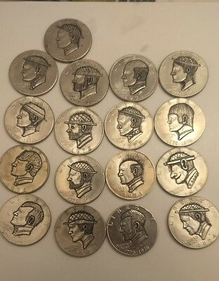 ike and hobo nickel a lot! free shipping 17 carved Ike dollars