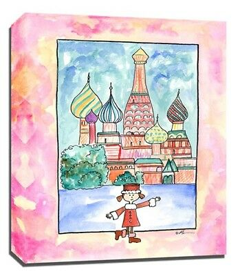 Travel Girl Russia, Print or Canvas Wall Art Decor, Kids Bedroom Baby, Adoption