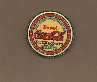New 3 Inch Coca Cola Keg Iron On Patch Free Shipping