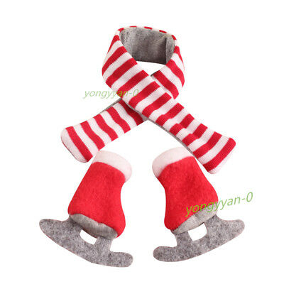 Christmas Elf Claus Couture scarf and Boots Kids Gift toy Holiday on the shelf