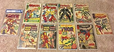 Comic Book Lot Marvel Silver Age! Fantastic Four 35, Amazing Spider-Man 46 +more
