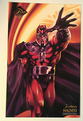 1994 MARVEL Flair Print - Magneto - Jumbo 6.5 X 10 inches