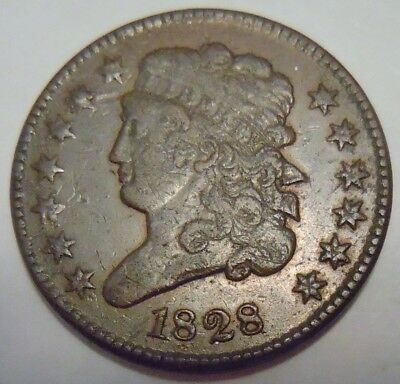 1828 Classic Head Half Cent, C-3, Buy It Now!