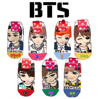 BTS Bangtan Boys Ankle Socks Jin Suga J-hope Jimin V Jungkook Rap Monster K-POP