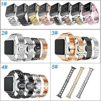 Metal Stainless Steel Wrist Bracelet For Apple Watch Band iWatch 38mm/42mm Clasp