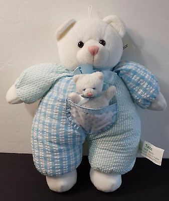 Russ Plush TUBBS Blue Bear with Baby Soft Child Toy Stuffed Animal Washable