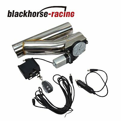 """2.5""""Electric Exhaust Downpipe Cutout E-Cut Out Valve CONTROLLER REMOTE KIT NEW"""