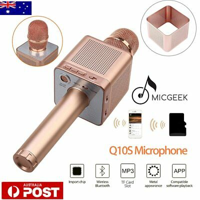 MicGeek Q10S Wireless Microphone Bluetooth Karaoke Player Portable For Android U