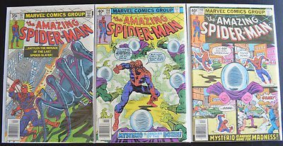AMAZING SPIDER-MAN (3-Book LOT) #191, 198 & 199 (Marvel, 1979) NEWSSTAND EDITION