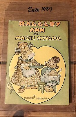 WOW! Extremely Rare 1937 Abbotts Dairies Giveaway Raggedy Ann and Maizie Moocow