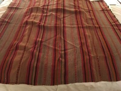 Antique Bolivian handwoven Incan Poncho beautiful weaving and color