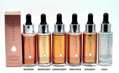 Cover FX CUSTOM ENHANCER DROPS 100% Authentic Full Size - Choose your Shade