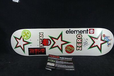Zero Skateboard Deck Element Girl Santa Cruz Spitfire Stickers Grizzly Grip 8.25