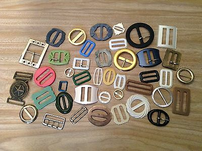 Belt Buckles Scarf Slides Vintage Retro Art Deco Ladies Womens Bulk Shell