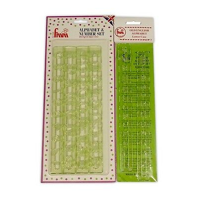 FMM Old English Uppercase, Numbers and Lower Case Tappit Cutter Complete Set