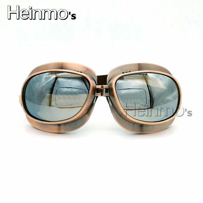 For Harley Vintage Motorcycle Goggles Glass Pilot Motorbike Goggles Retro Helmet