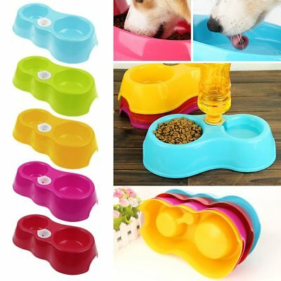 Plastic Pet Dog Cat Puppy Automatic Water Dispenser Fountain Dish Feeder Bowl