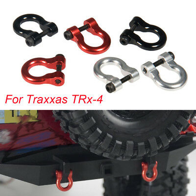 CNC Alloy Metal Hitch Tow Shackles Hooks For Traxxas TRx-4 1/10 RC Crawler