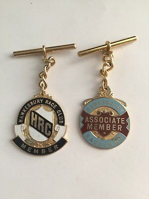 Vintage 1975/76 Hawkesbury Race Club member badges