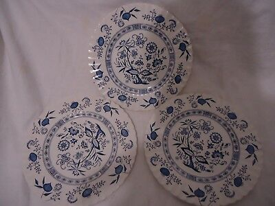 Classic J & G Meakin Blue Nordic 4 Dinner Plates English Ironstone Tableware