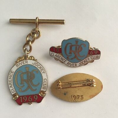 Vintage 1969, 75 Clarence Jockey Club membership badge
