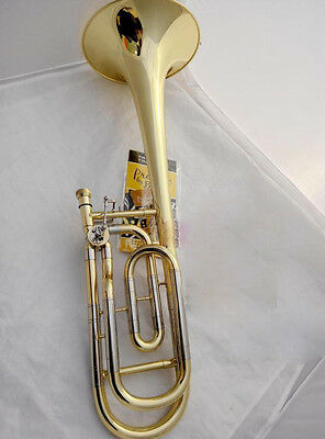 New Top Grade Professional B Flat Mediant Brass Musical Instruments Trombone #