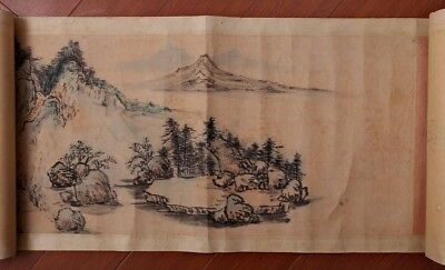 Long Rare Old China Scroll Hand Painting Landscape By JiangHanTing Marked PP659