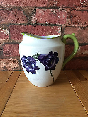 "Antique 1900 Wemyss Ware Fife Pottery Canterbury Bells 6"" Baluster Jug"