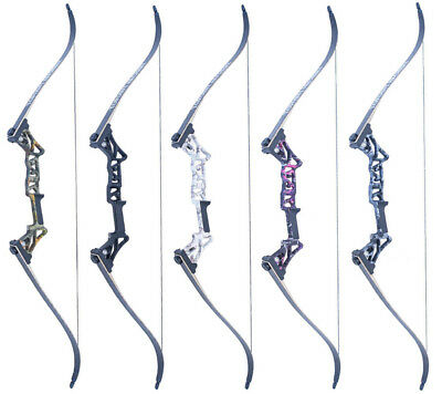5 Colors 30-50 Lbs 58'' Vertex Recurve Bow Aluminum Alloy Hunting Bow Archery