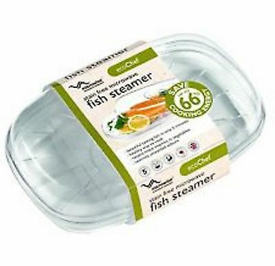New Eco Chef Stain Free Microwave Fish Steamer